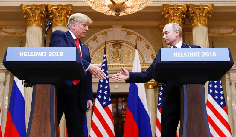 Image result for photos of trump-putin helsinki