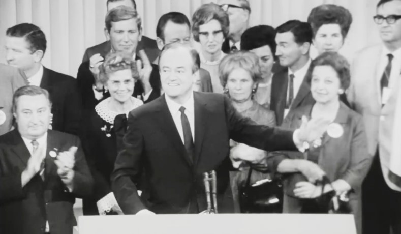 Hubert Humphrey At The 1968 Democratic National Convention In Chicago