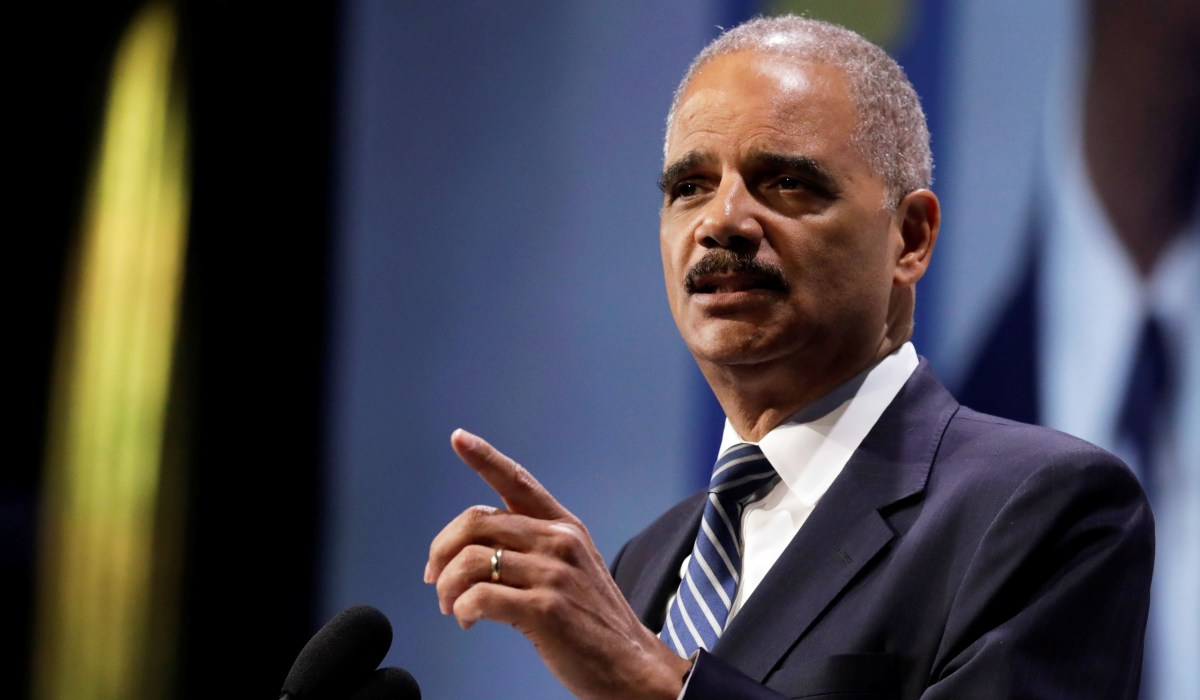 Eric Holder: 'When They Go Low, We Kick Them'