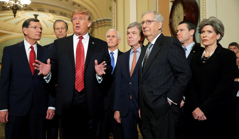 Image result for republican senators supporting trump 2019 pictures