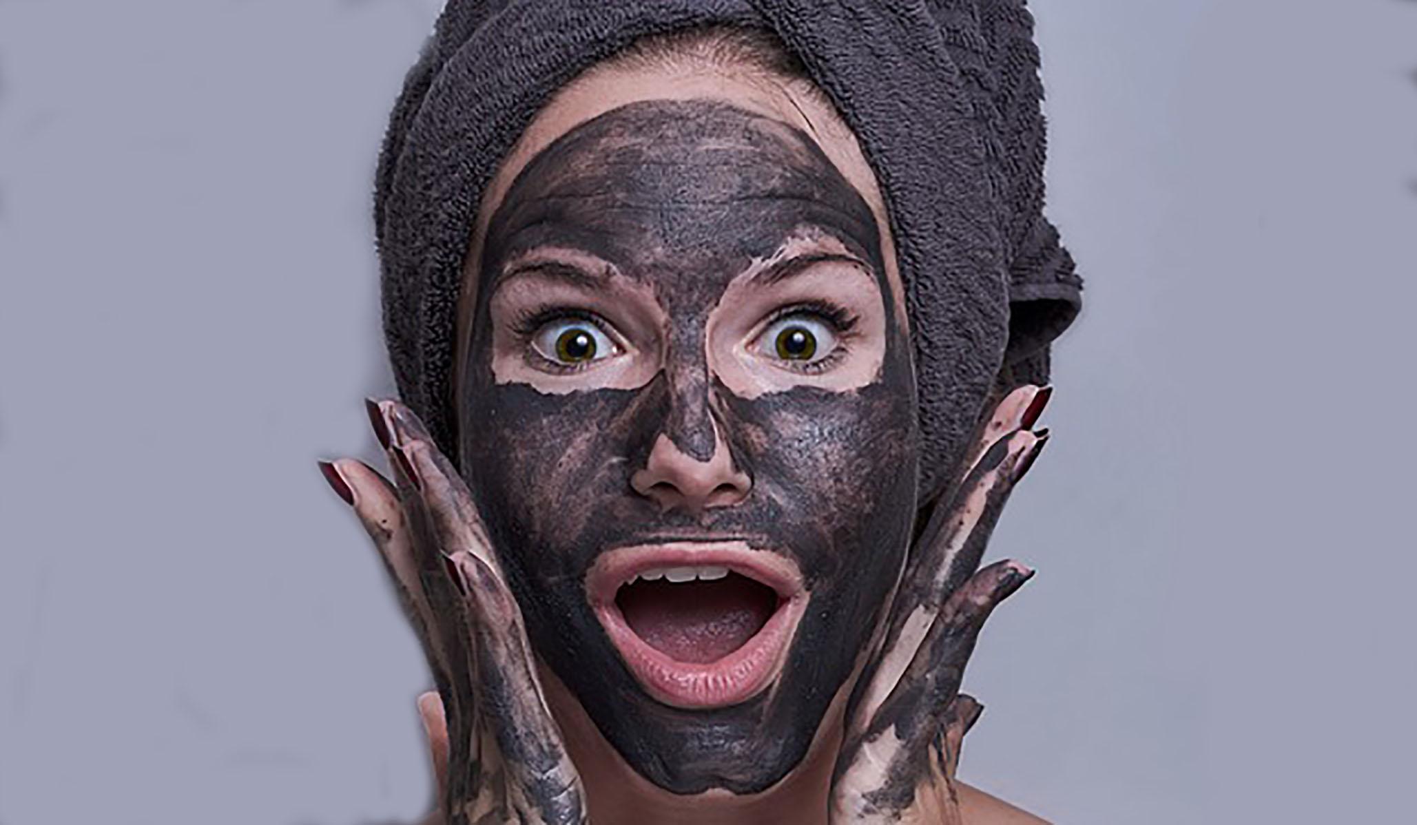 dark grey surgical mask