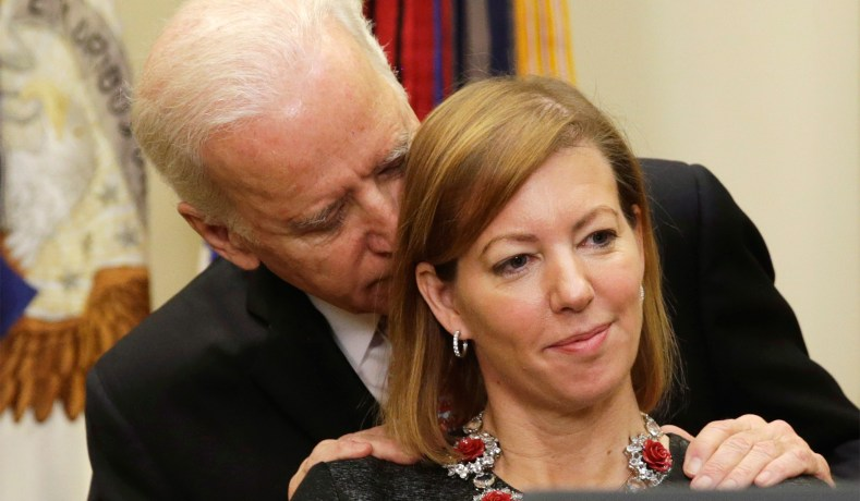 Image result for images of joe biden sniffing hair