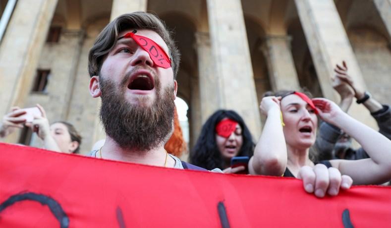 Georgian Protesters Defy Vladimir Putin: West Must Stand