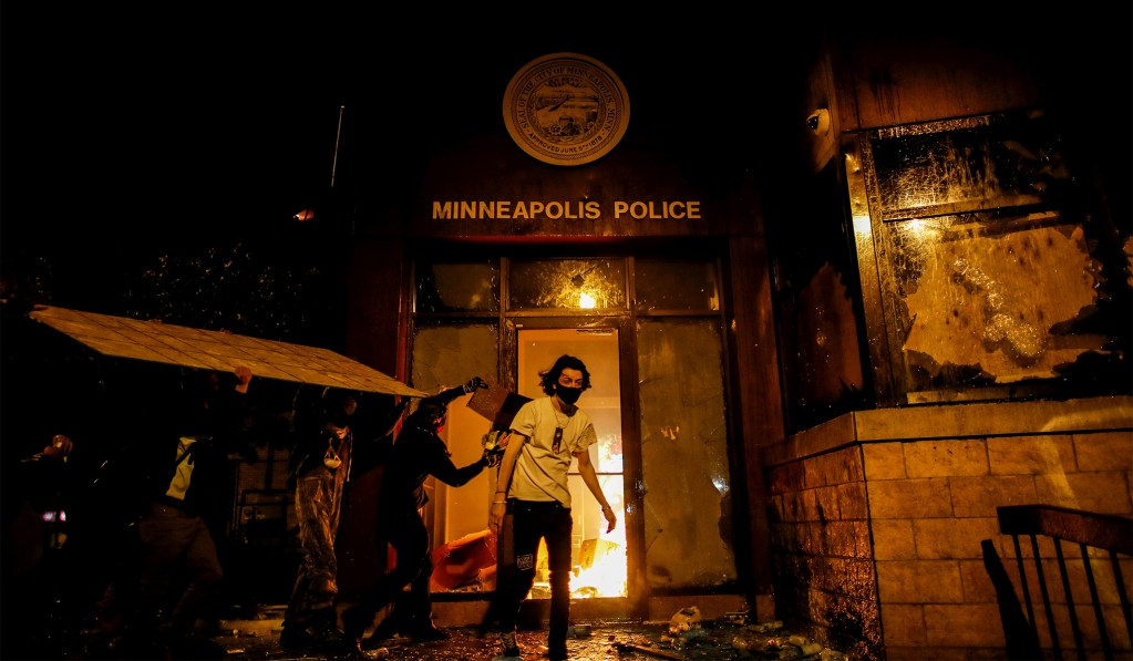 Rioters Set Fire to Minneapolis Police Station
