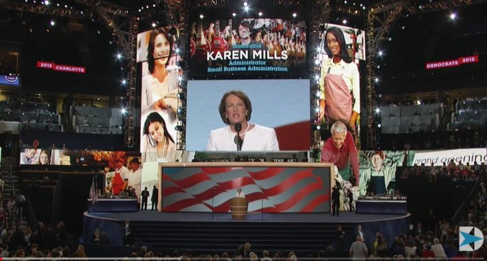 Karen Mills, speaking at the 2012 Democratic convention.