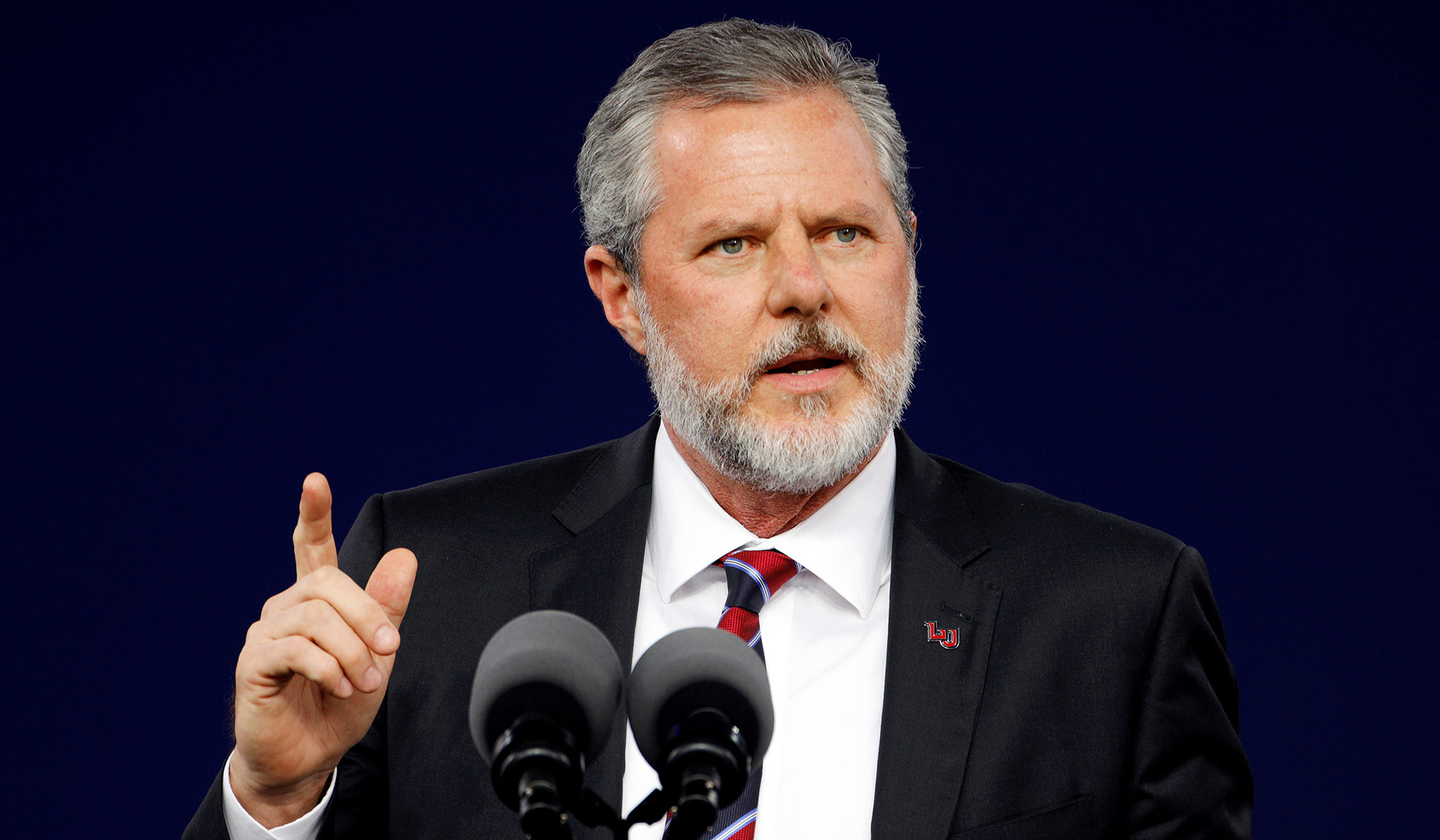 Jerry Falwell Jr. Will Take 'Indefinite' Leave of Absence from Liberty University after Uploading Racy Picture to Instagram thumbnail