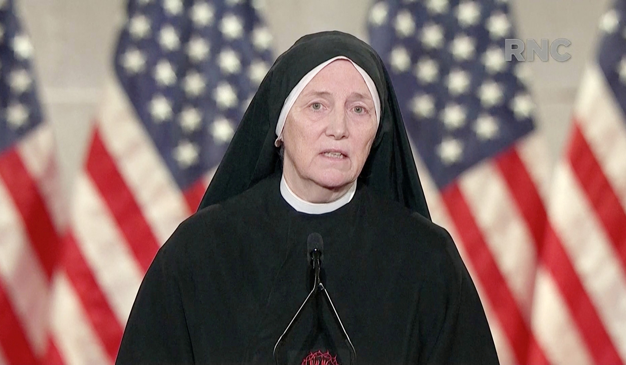 'The Largest Marginalized Group': Sister Dierdre Byrne Likens Unborn Children to Refugees in RNC Address thumbnail