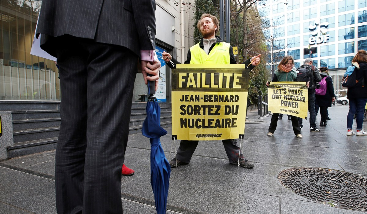 Greenpeace nuclear power protest
