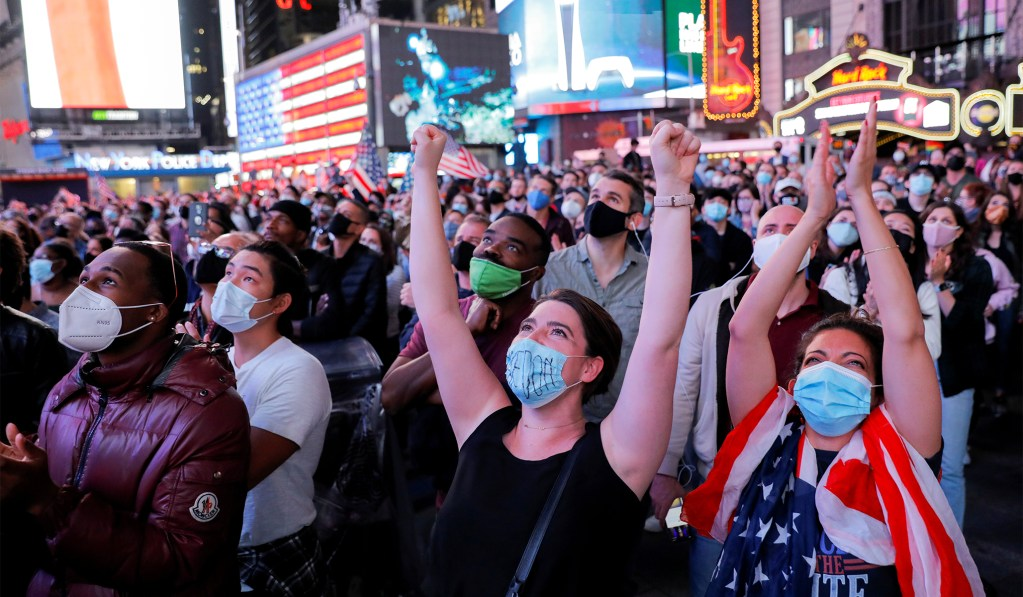 NYC Health Committee Chairman Cheers Packed Crowd in Times Square, then Warns of Second COVID Wave