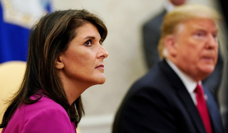 Nikki Haley Says She Won't Run for President in 2024 if Trump Does thumbnail