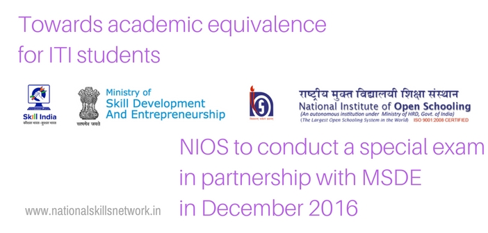 NIOS exam for ITI students