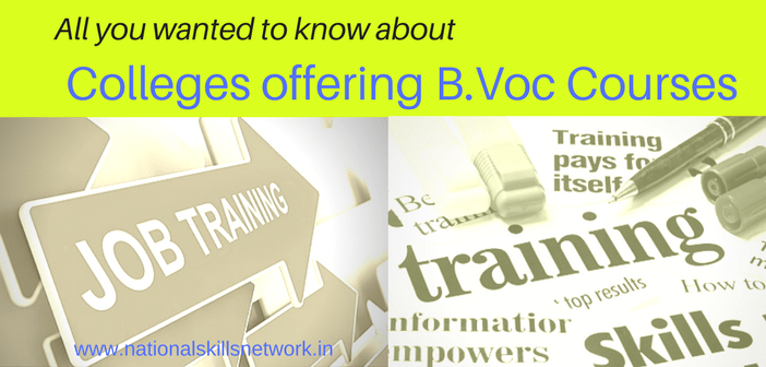 B.Voc courses and colleges