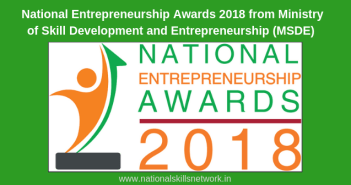 National Entrepreneurship Awards 2018