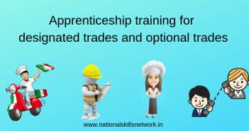 Apprenticeship training for designated trades and optional trades