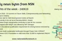 News Bytes from NSN – Quick updates on skill development and Vocational Training – 240619