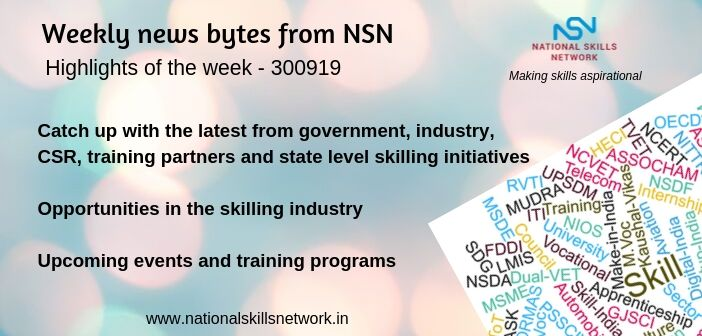 News bytes on Skill Development and Vocational Training – 300919