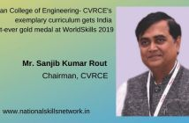 C.V.Raman College of Engineering - CVRCE's exemplary curriculum gets India first-ever gold medal at WorldSkills 2019