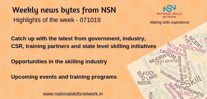 News Bytes on Skill Development and Vocational Training – 071019