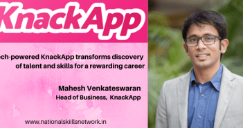 Mahesh Venkateswaran Business Head KnackApp