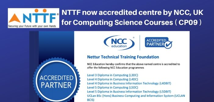 NTTF is now accredited