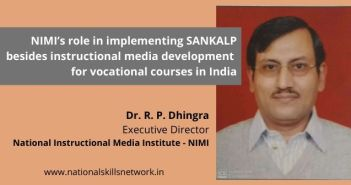 NIMI's role in implementing SANKALP, instructional media development for vocational courses