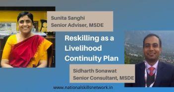 Reskilling as a livelihood continuity plan