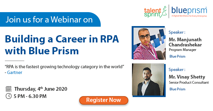 Webinar on Building a Career in RPA with Blue Prism