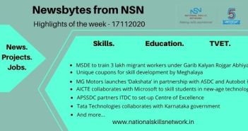 Newsbytes on skill development and vocational training