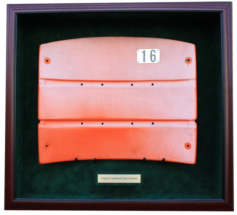 desk chair glass mat babies r us vibrating any stadium seatback display case   sports memorabilia!