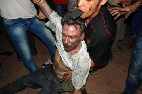 Final moments of Chris Stevens, Us ambassador to Libya. He died of wounds after mob and Islamist attacked Ud embassy in Benghazi with rocket launchers