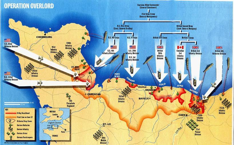 Image result for map of d-day invasion of normandy