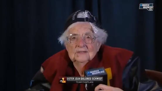 sister jean talks about