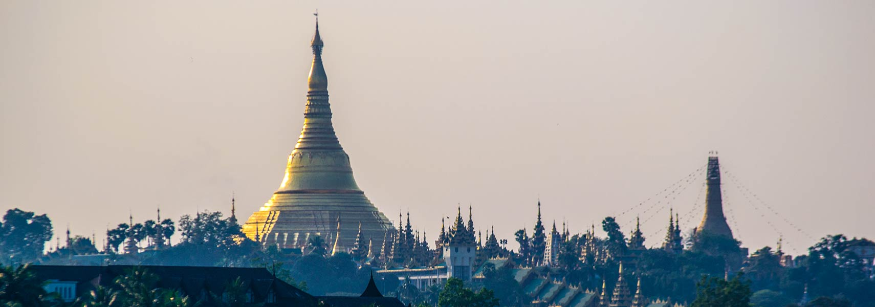 Shwedagon Pagoda at sunset, Yangon, Myanmar