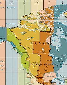 Map of united states time zones also zone the nations online project rh nationsonline