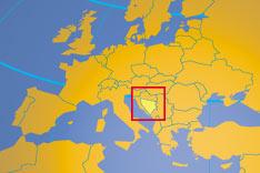 where in Europe is Bosnia and Herzegovina?