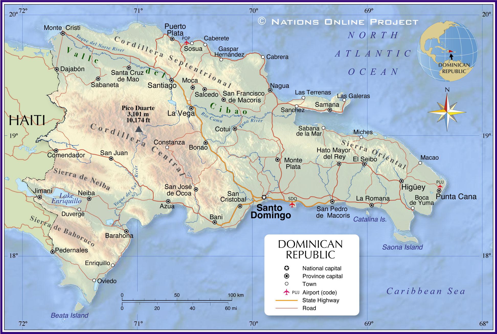 Administrative Map of Dominican Republic