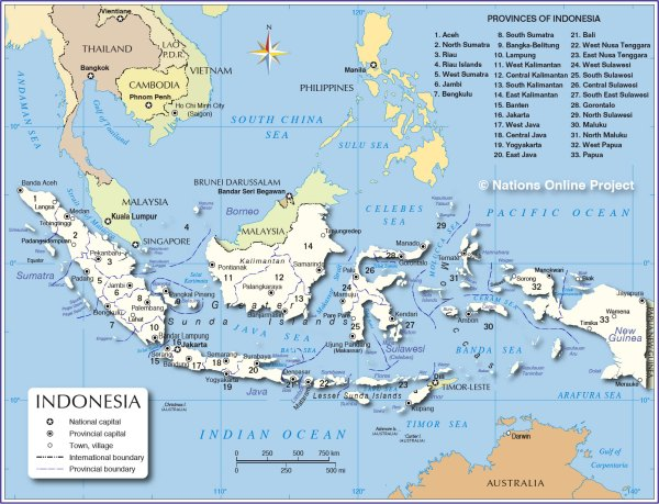 Administrative Map of Indonesia Nations Online Project