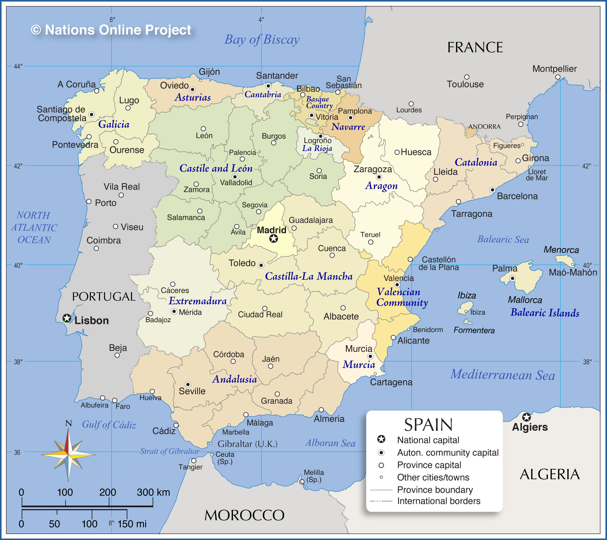 Biological Health Hazard Report Large Legionellosis Outbreak - Large map of spain