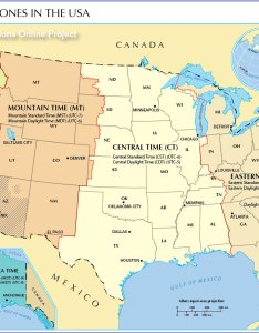 Time zones map of united states also zone the nations online project rh nationsonline