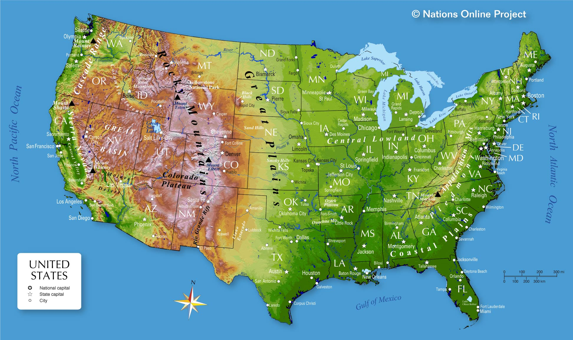 We look at a few excerpts to see how much we're driving and what we're eating. Map Of The United States Nations Online Project