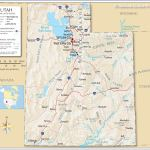 Map Of The State Of Utah Usa Nations Online Project