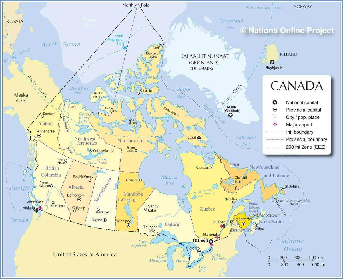 Map Of Major Cities In Canada Afp Cv