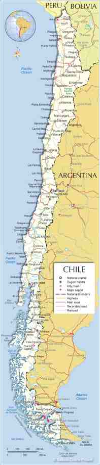 Political Map Of Chile Nations Online Project