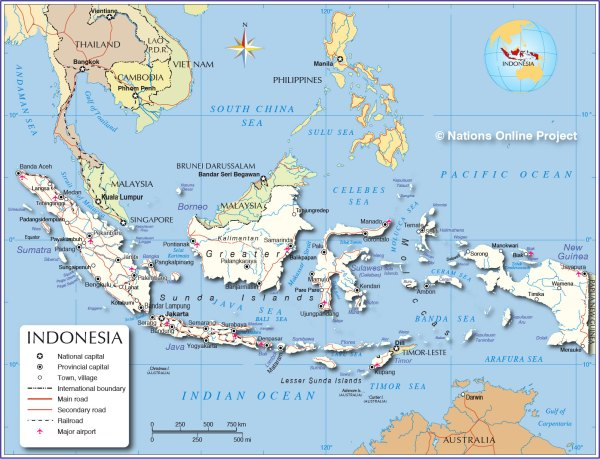 Political Map of Indonesia Nations Online Project