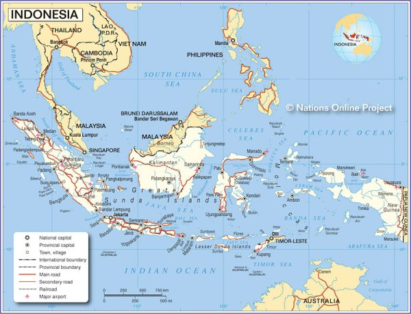 Map of Indonesia Nations Online Project