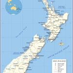 Political Map Of New Zealand Nations Online Project