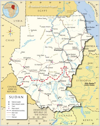 Political Map of Sudan - Nations Online Project