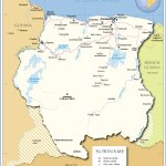 Political Map Of Suriname Nations Online Project