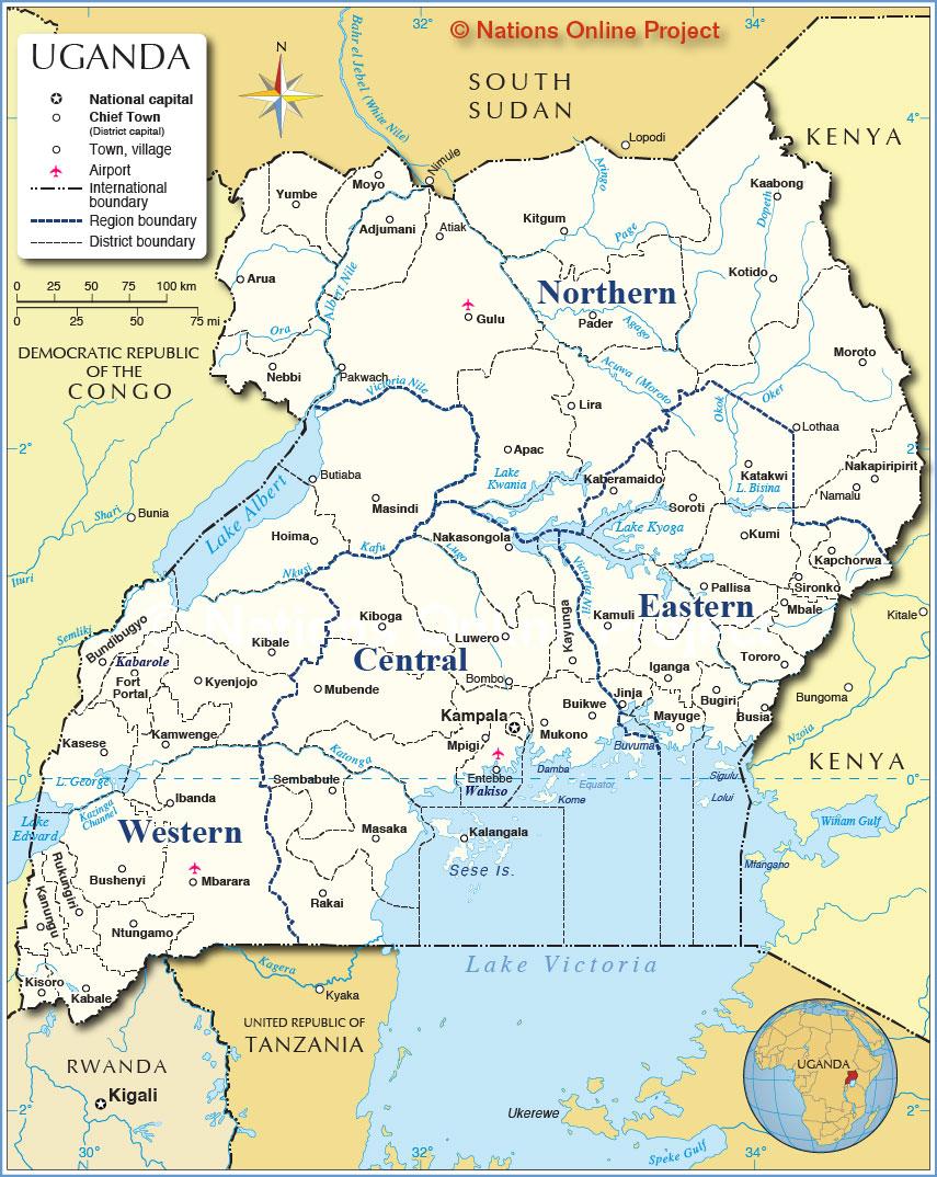 Administrative Map of Uganda