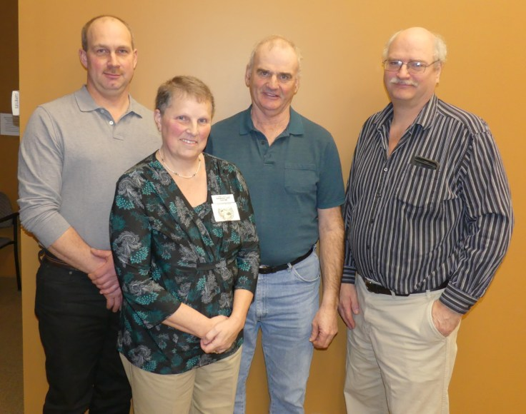 Some key members of the 2017 Stormont County Agricultural Society executive (from left) President David Zummach, Secretary/Treasurer Barbara-Ann Glaude, 1st Vice Morris Dusomos and 2nd Vice Jeff Waldroff. Zandbergen photo, Nation Valley News